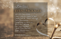 Bertie's Elland, Event Package y Design