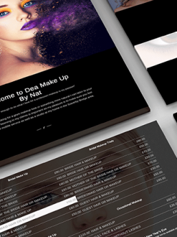 Make Up and Hairdressers Web Design