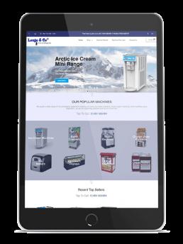 Longo and Co Ice Cream Machine - Website rebrand