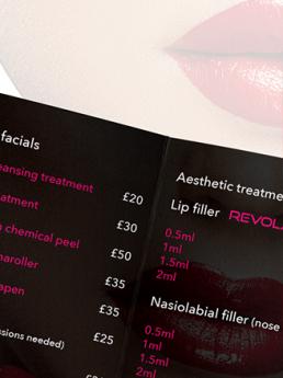 Aesthetic & Beauty Price Lists design