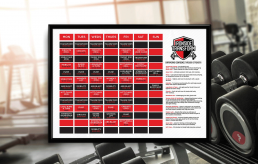 Gym, Fitness branding, Graphic design and printing