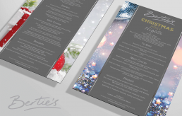 Bertie's Elland, Christmas Food Menu Design