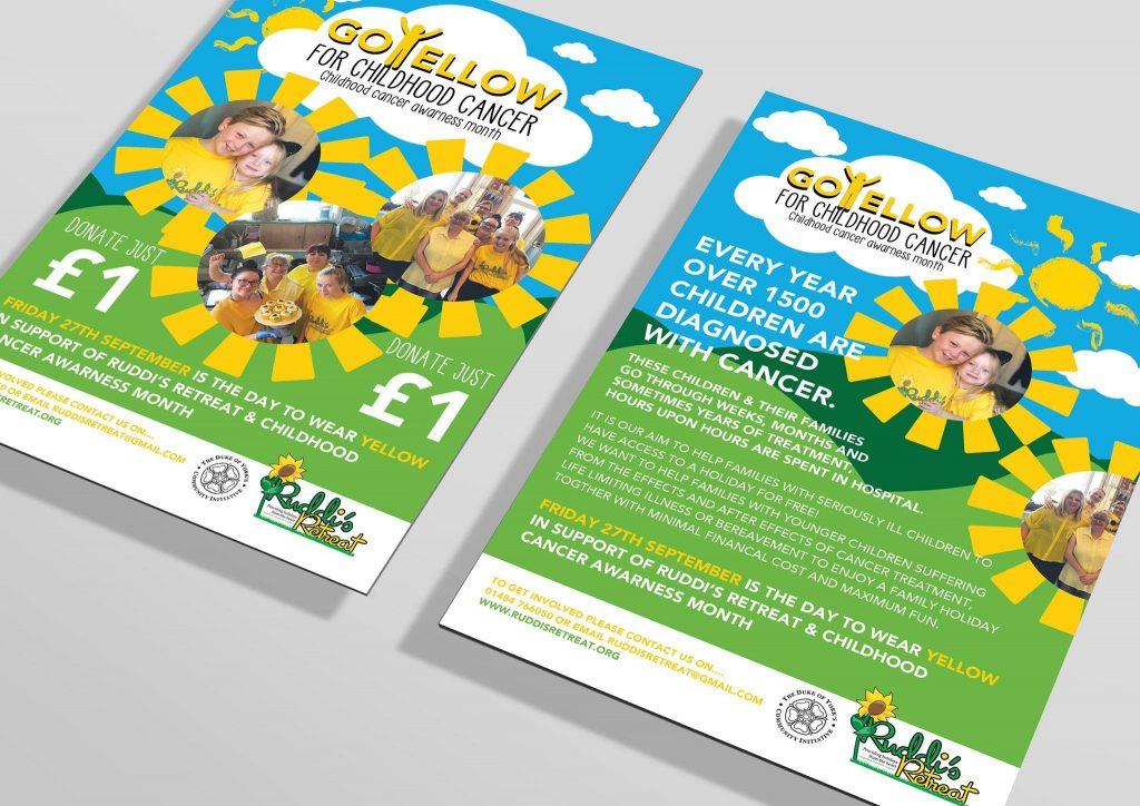 Huddersfield charity Ruddi's retreat go yellow campaign