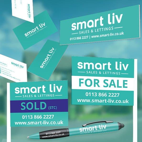 Leeds based estate agents Smart Liv new brand Identity